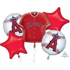 Los Angeles Angels of Anaheim 5 Piece Balloon Set Baseball Party Supplies