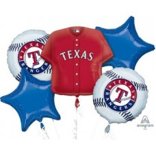 Texas Rangers 5 Piece Balloon Set Baseball Party Supplies
