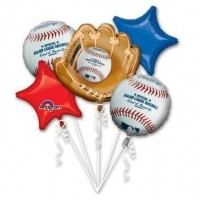 Major League Baseball 5 Piece Balloons Party Supplies Set