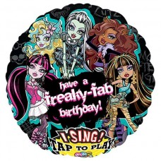 "Monster High 28"" Sing a Tune Foil Balloon"