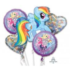 My Little Pony Dash Rainbow 5 Piece Balloon Bouquet