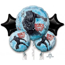 Black Panther 5 Piece Avengers Balloon Bouquet