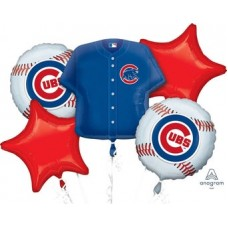 Chicago Cubs 5 Piece Balloon Set Baseball Party Supplies