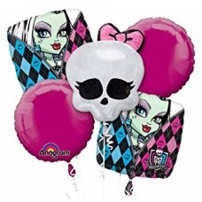 Monster High 5 Piece Bouquet of Balloons