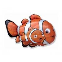 "Clown Fish 34"" Jumbo Super Shape Foil Balloon"