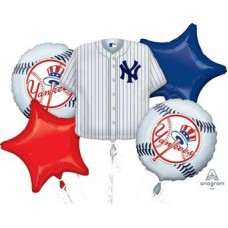 New York Yankees 5 Piece Balloon Set Baseball Party Supplies