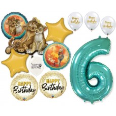 Simba the Lion King 6th Birthday Bouquet of Balloons Party Supplies Event Decorations
