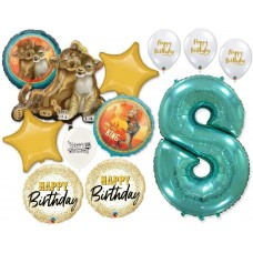 Simba the Lion King 8th Birthday Bouquet of Balloons Party Supplies Event Decorations