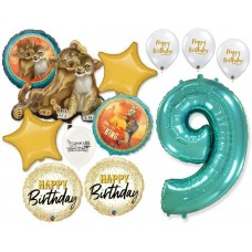 Simba the Lion King 9th Birthday Bouquet of Balloons Party Supplies Event Decorations