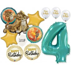 Simba the Lion King 4th Birthday Bouquet of Balloons Party Supplies Event Decorations