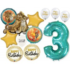 Simba the Lion King 3rd Birthday Bouquet of Balloons Party Supplies Event Decorations
