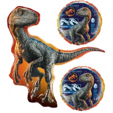 Jurassic World Raptor Dinosaur 3 Piece Balloon Set