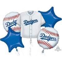 Los Angeles Dodgers 5 Piece Balloon Set Baseball Party Supplies