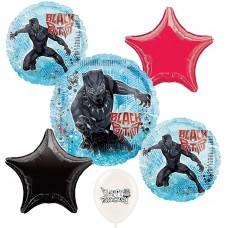 Black Panther 6 Piece Avengers Balloon Bouquet