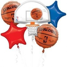 Basketball NBA 5 Piece Balloons Bouquet Party Supplies Set