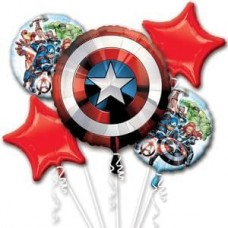 Captain America 5 Piece Avengers Balloon Set for Party Events