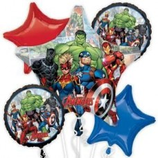 Avengers Marvel Powers Unite 5 Piece Balloon Set for Party Events