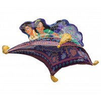 Aladdin and Jasmine Disney's cutest couple on this Magic Flying Carpet Balloon for Kids and Adults Birthday Parties Events Decorations