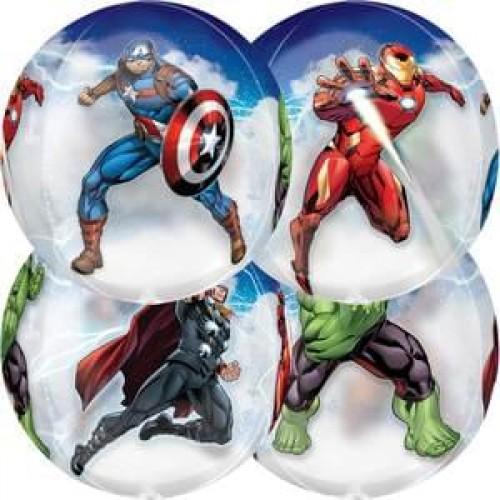 Avengers Marvel Superheroes Battle Scene 15 Inch Orbz Balloon Ironman Thor Hulk and Captain America