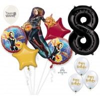 Avengers Captain Marvel Ultimate Avengers 8th Birthday Party Event Bouquet of Balloons Decorations Eightieth By the Numbers