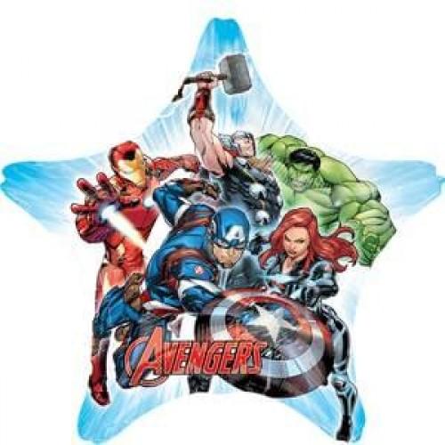 Avengers 28 Inch Star Captain America, Thor, Black Widow, Hulk Supershape XL Mylar Balloon Kids Parties Decorations Themed Birthdays