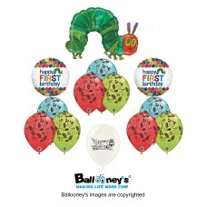 The Very Hungry Caterpillar 13 Piece Happy Birthday Party Supplies and Decorations Balloon Bundle Decor Set by Ballooney's