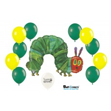 The Very Hungry Caterpillar 11 Piece All Occasions Party Supplies and Decorations Foil and Latex Balloon Bundle Decor Set by Ballooney's
