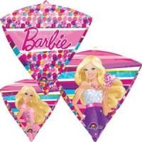 Barbie 16 inch Sparkle Diamondz Mylar Balloon for Girls Diamond Shape Polka Dot Party Supplies Decorations