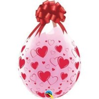 Hearts and Hearts 18 inch  Latex Balloons  25 per bag crafts, classy wrap