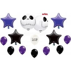 Jack Skellington Nightmare Before Christmas Balloon Bundle set latex kids parties-decorate decor foil