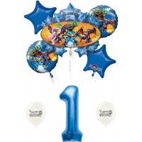 Skylanders Eruptor and Friends 1st First Birthday Balloon Bundle Set Decor Decorations Parties Kids
