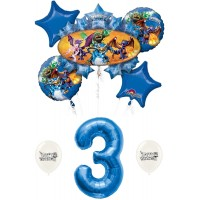 Skylanders Eruptor and Friends 3rd third Birthday Balloon Bundle Set Decor Decorations Parties Kids