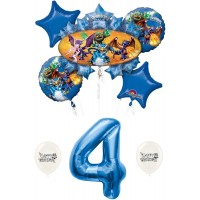 Skylanders Eruptor and Friends 4th fourth four 4 Balloon Bundle Set Decor Decorations Parties Kids