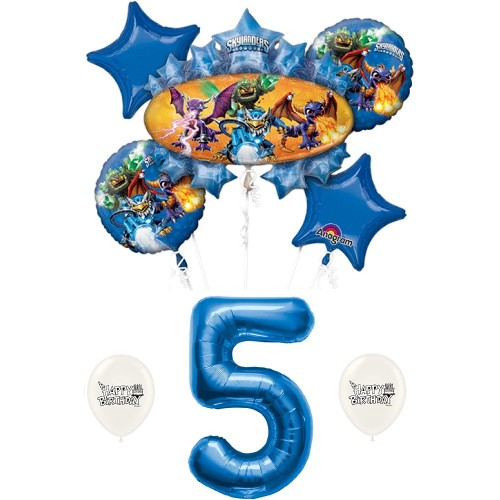 Skylanders Eruptor and Friends 5th fifth five 5 Birthday Balloon Bundle Set Decor Decorations Parties Kids