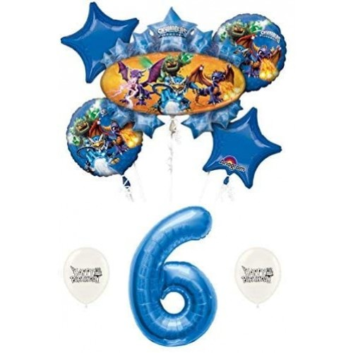 Skylanders Eruptor and Friends 6th Sixth Birthday Balloon Bundle Set Decor Decorations Parties Kids