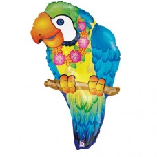 Tropical Parrot Helium Supershape Mylar Balloon