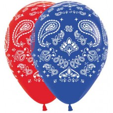 Bandana Western Count of 50 Latex Balloons