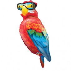 Cool Parrot with sunglasses 50 inch Jumbo Supershape Mylar Balloon