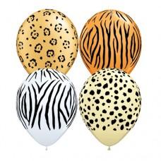 "Safari Bag of 100 Assorted 11"" Latex Balloons"