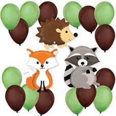 Woodland Fox Supershape Forest Animals Balloon Kit